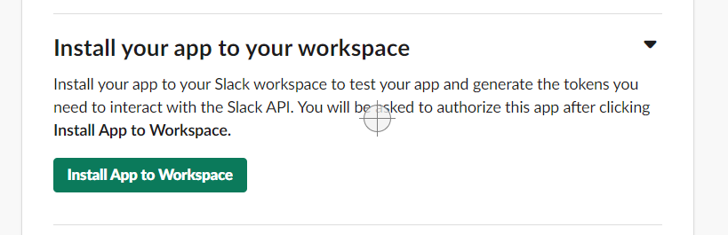 Install the app into your workspace.